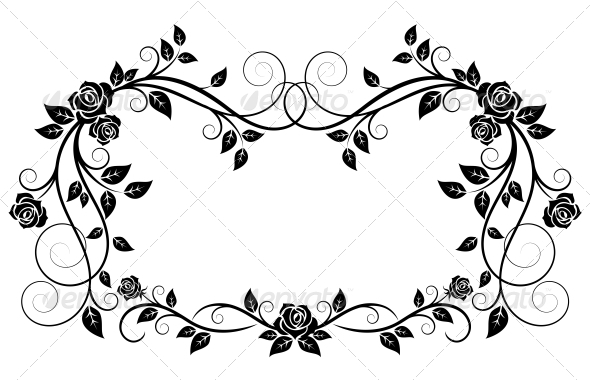 GraphicRiver Ornamental Frame with Rose Flowers 4612440