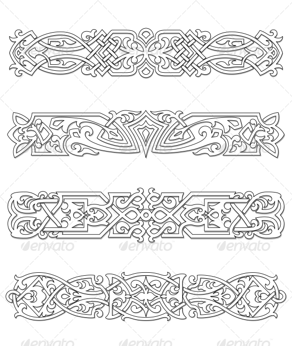 GraphicRiver Retro Borders and Ornaments 4612824