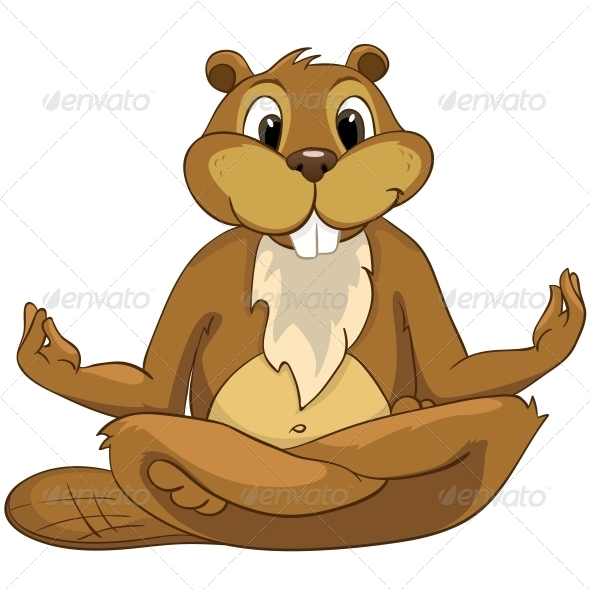 GraphicRiver Cartoon Character Beaver 4612863