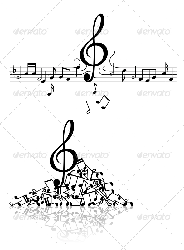 GraphicRiver Musical Background with Spoiled N2otes 4612883