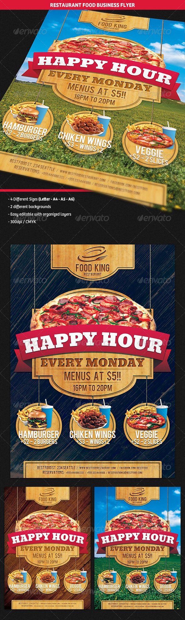 GraphicRiver Restaurant Food Promotion Flyer 4613011