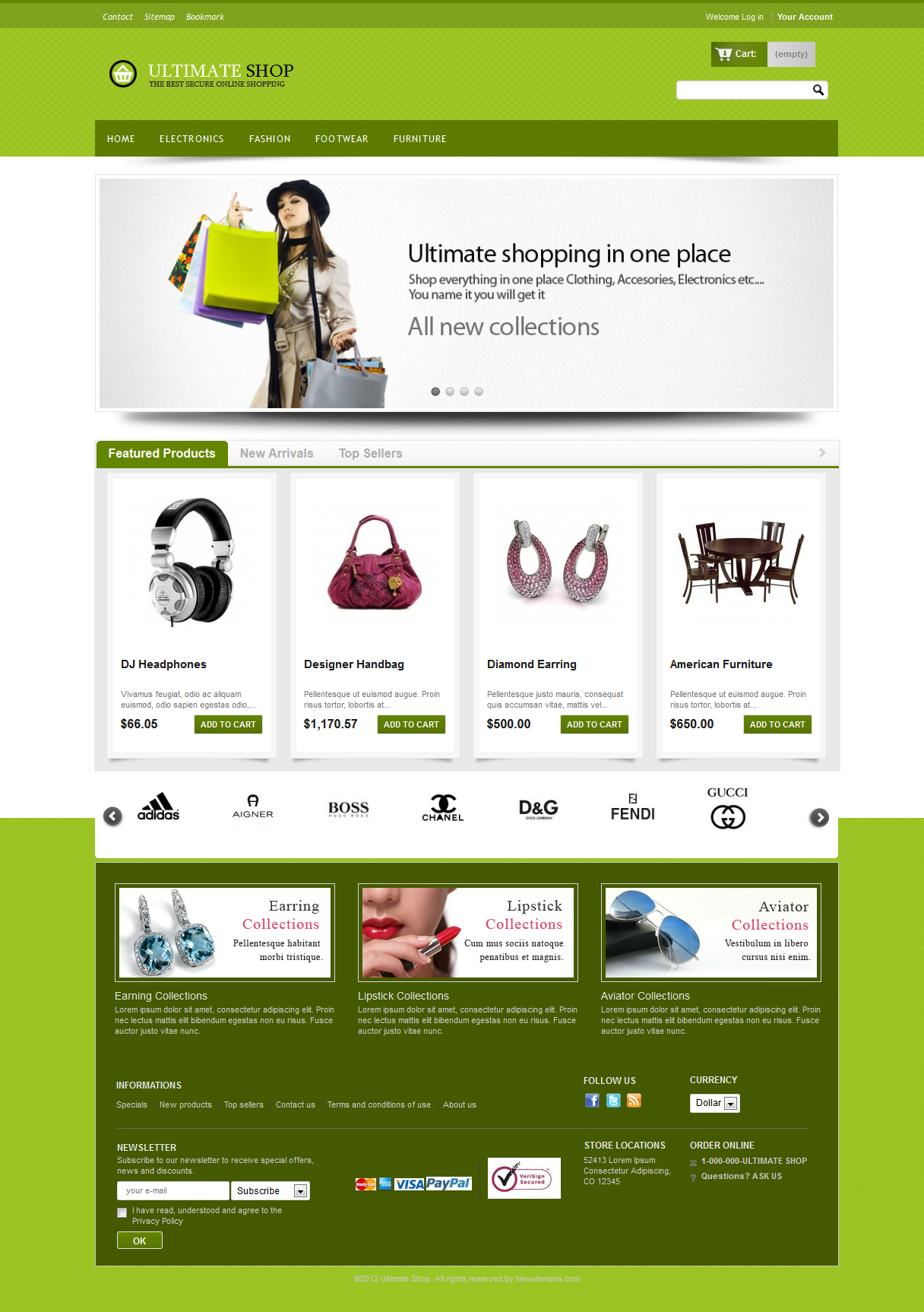 Ultimateshop Pro2 - Prestashop 1.5 Template