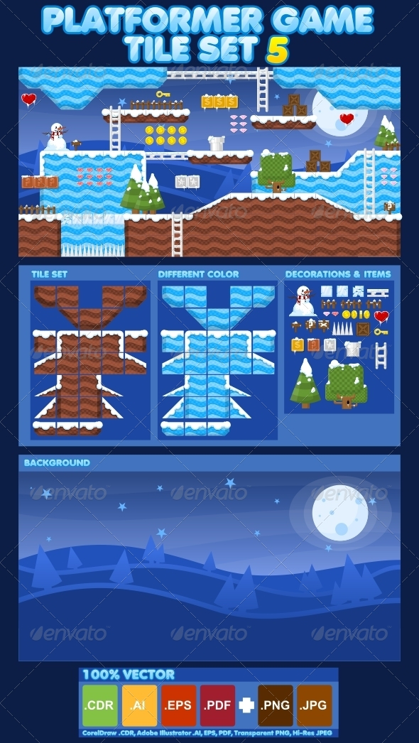 GraphicRiver Platformer Game Tile Set 5 4613596