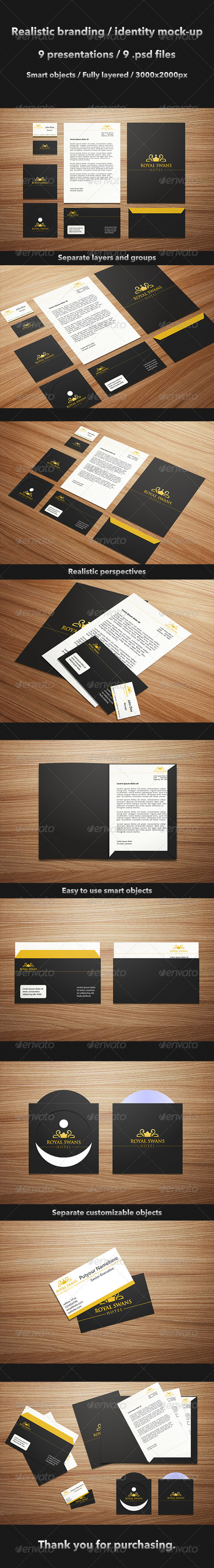 Realistic Brand / Identity Mock-Up - Stationery Print