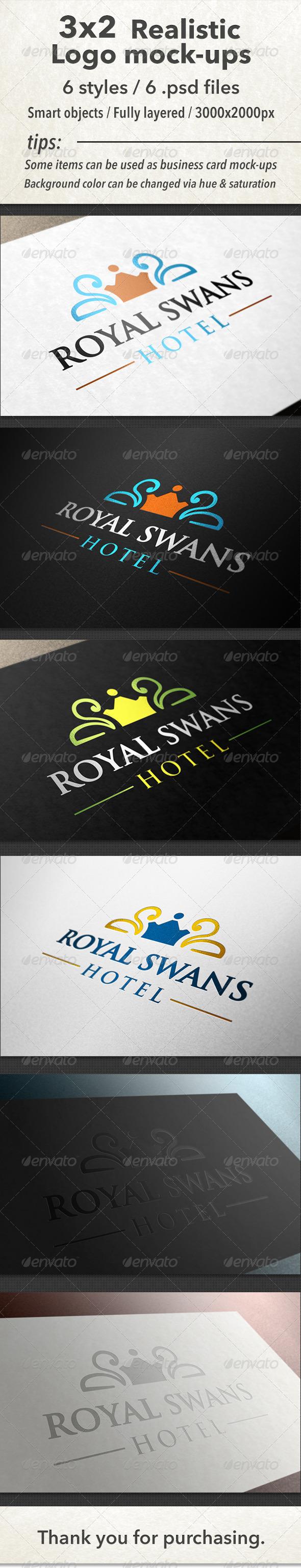 GraphicRiver 3x2 Realistic Logo Mock-Ups 4547133
