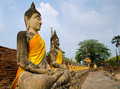 "Buddha statues in a row at ""Wat Yai-Chaimongkol temple in Ayutth - PhotoDune Item for Sale"