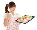 Thumb up Asian female baking - PhotoDune Item for Sale