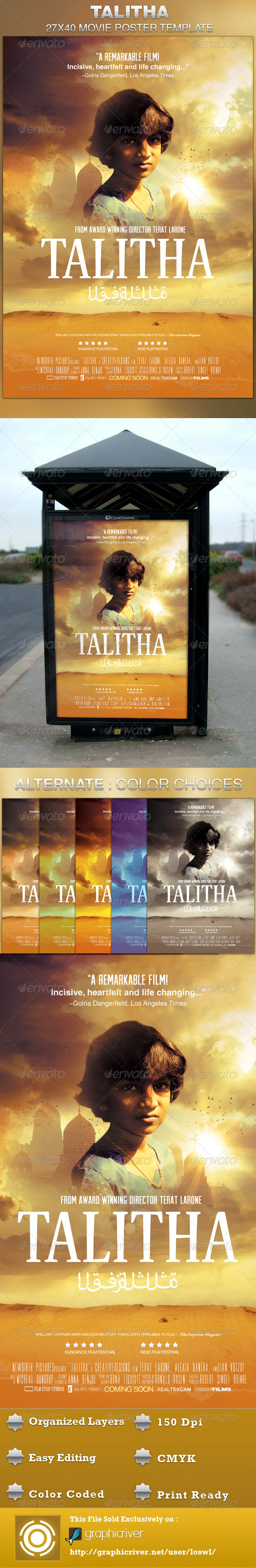 Talitha Movie Poster Template - Church Flyers