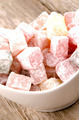 turkish delight in a white bowl - PhotoDune Item for Sale