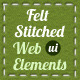 Crafty Felt Stitched Web Elements and UI Kit - GraphicRiver Item for Sale