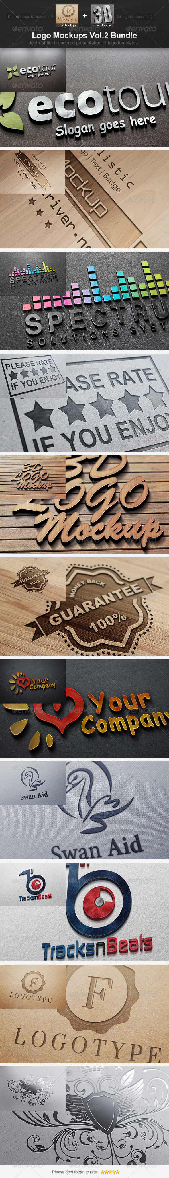 Logo Mockups Vol.2 Bundle - Logo Product Mock-Ups