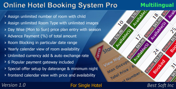 CodeCanyon Online Hotel Booking System Pro 4606514