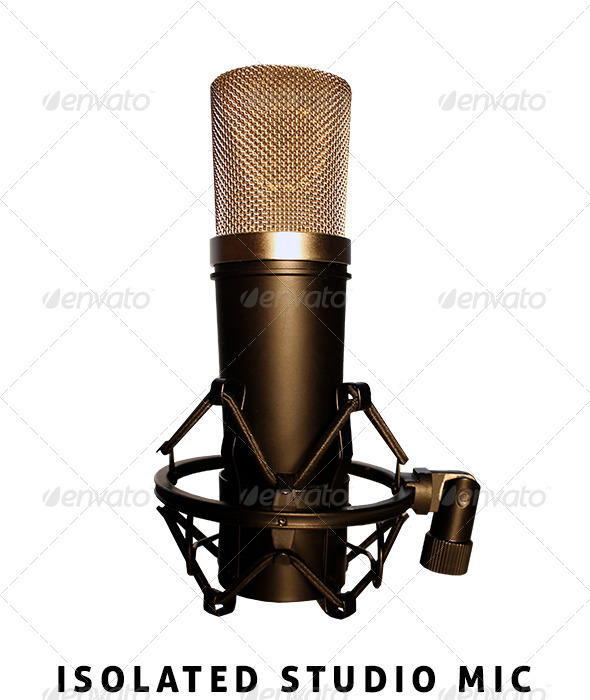 Isolated Studio Mic - Isolated Objects
