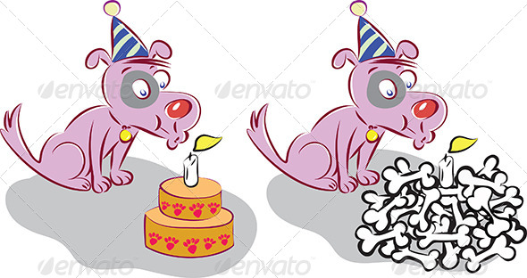 GraphicRiver Happy Birhday Dog 4616713