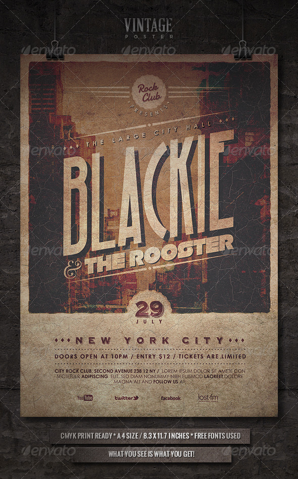 GraphicRiver Vintage Poster II 4616889