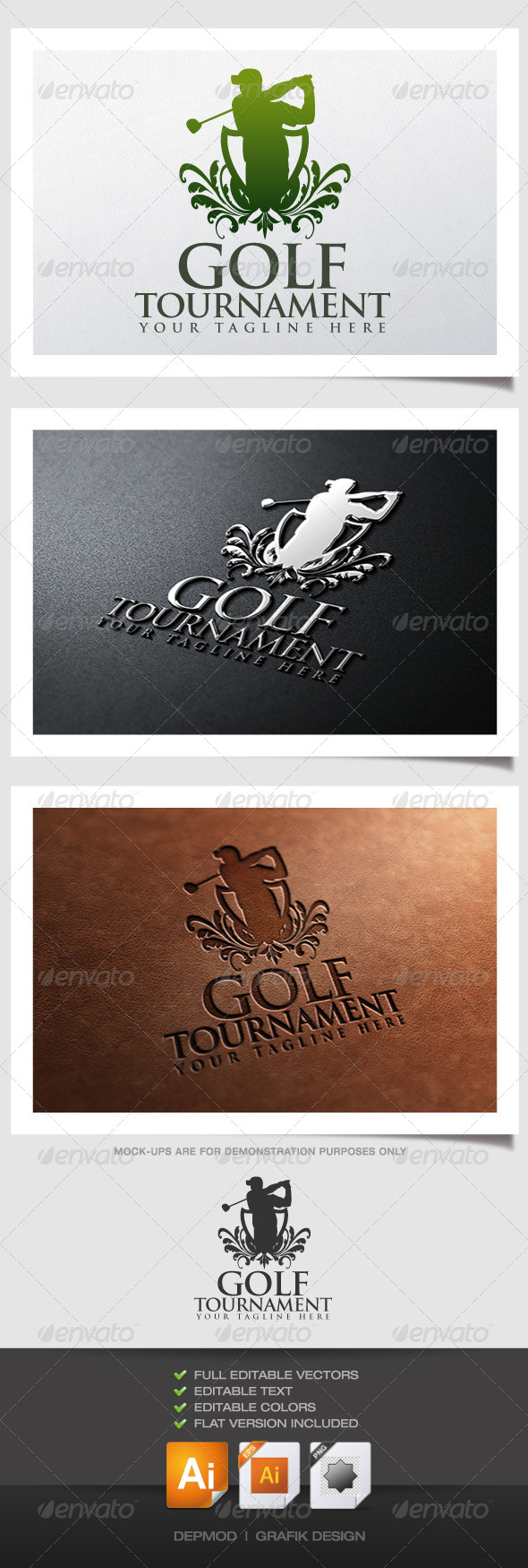 GraphicRiver Golf Tournament Logo 4574304