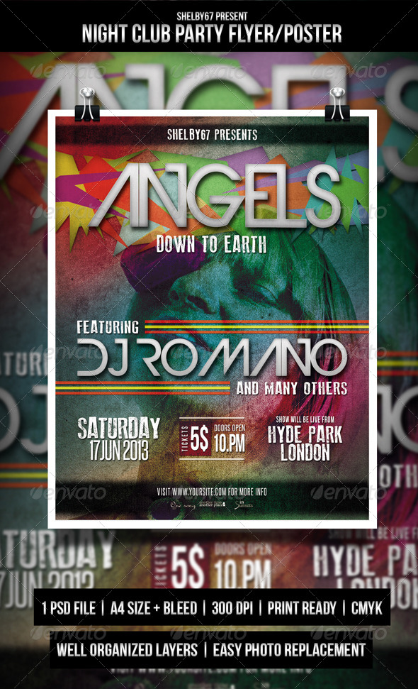 GraphicRiver Night Club Party Flyer Poster 4618033