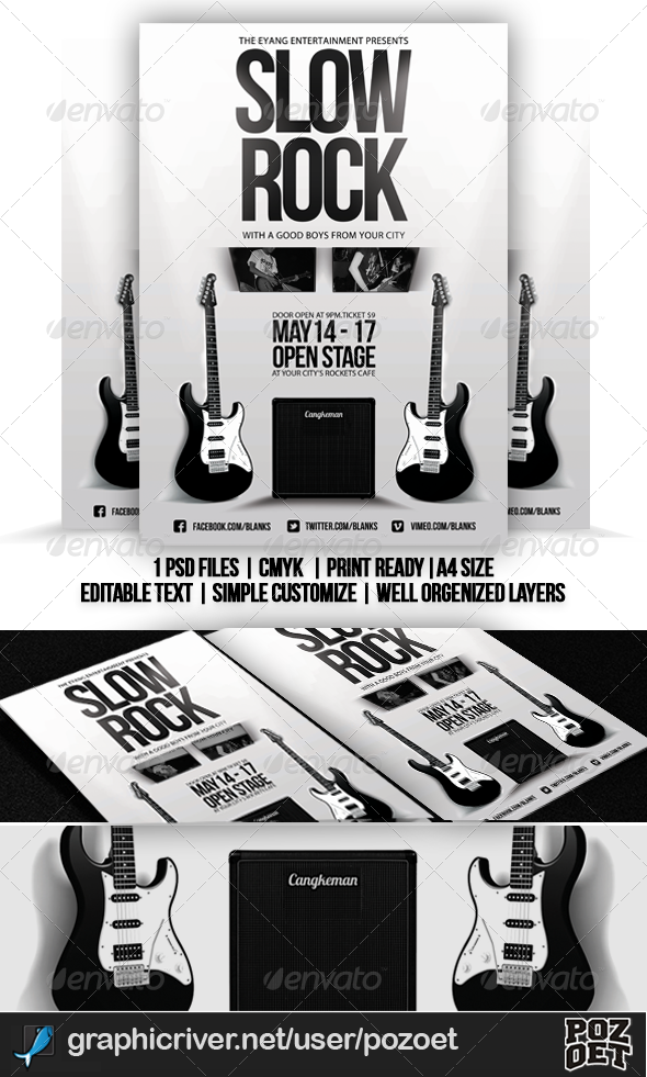 GraphicRiver Slow Rock Flyer Template 4527139