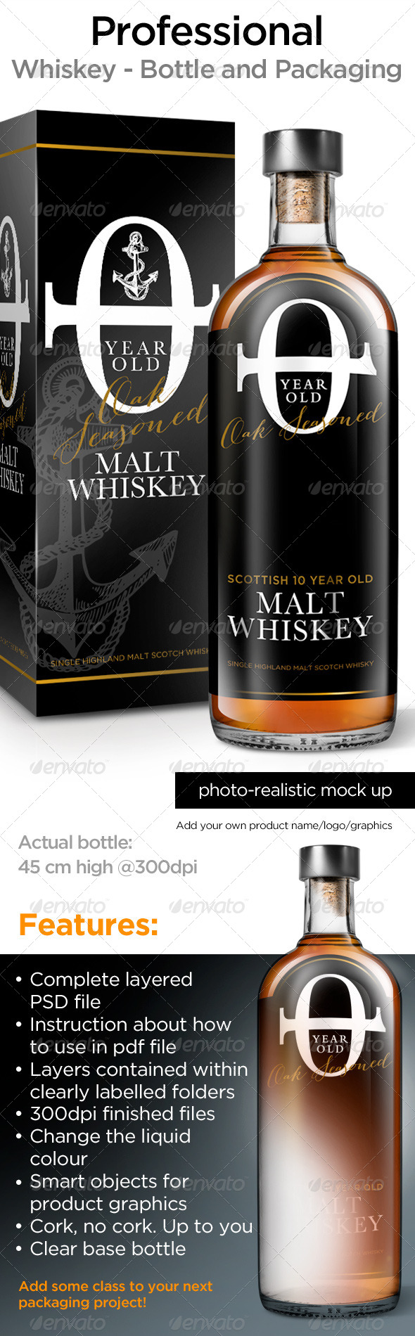 GraphicRiver Whisky Bottle Mock Up 4618927