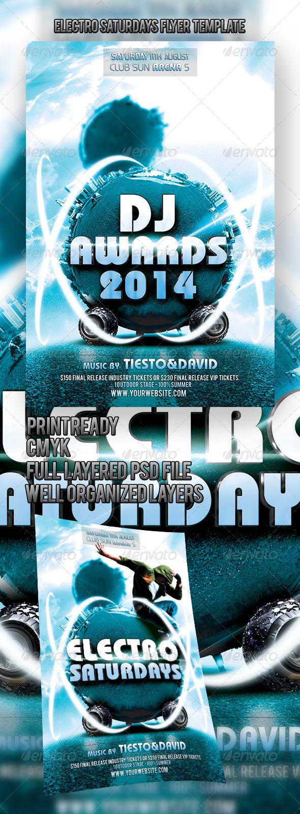 GraphicRiver Electro Saturdays Flyer Template 4618949