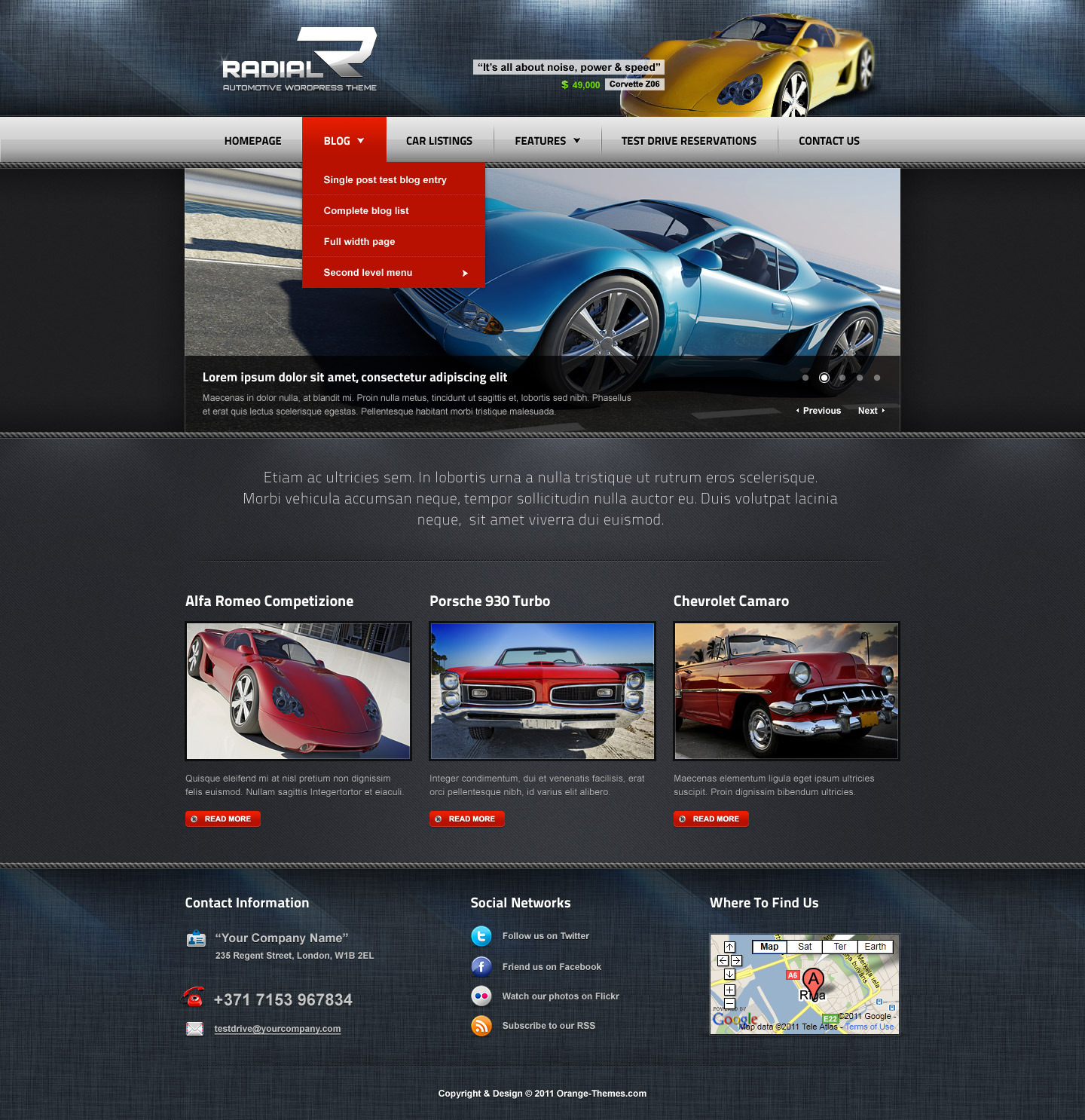 Radial - Premium Automotive & Tech HTML Template