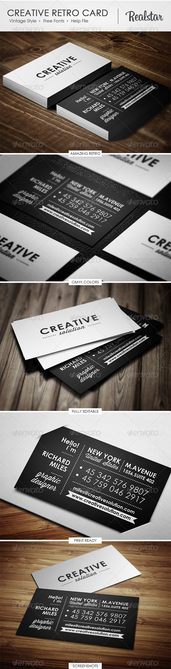 Creative Retro Business Card - Retro/Vintage Business Cards