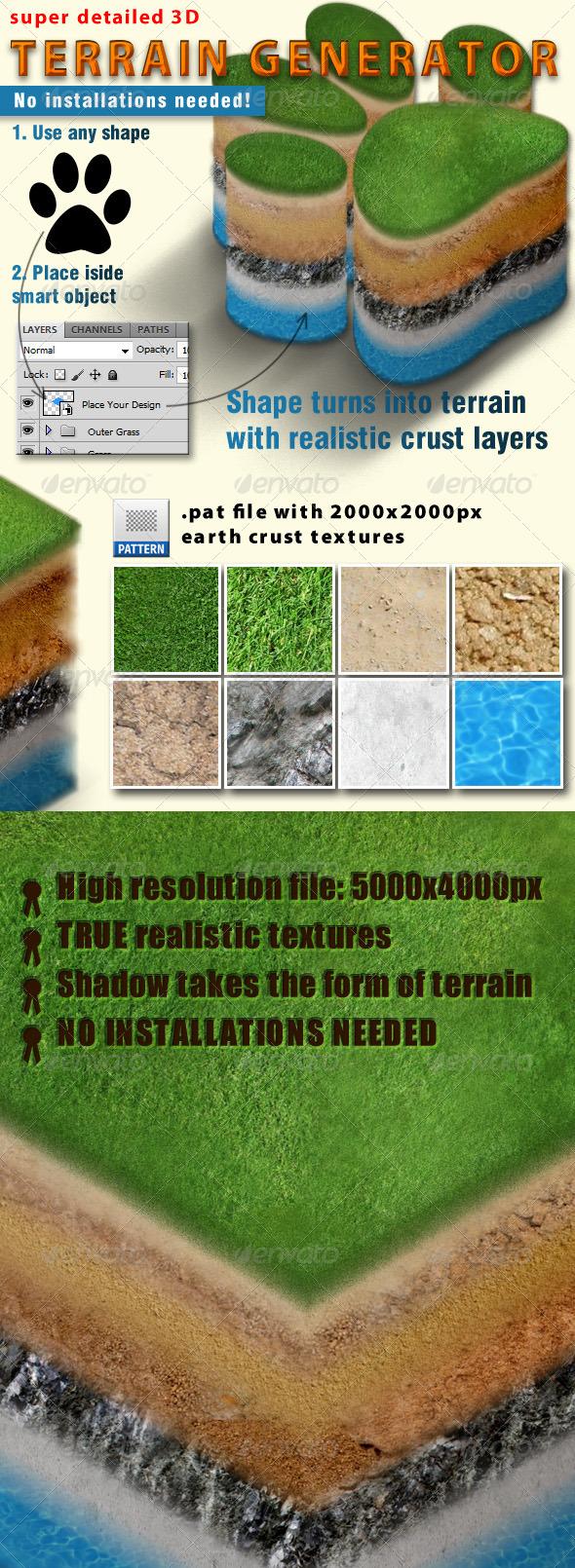 GraphicRiver 3D Terrain Generator 4619062