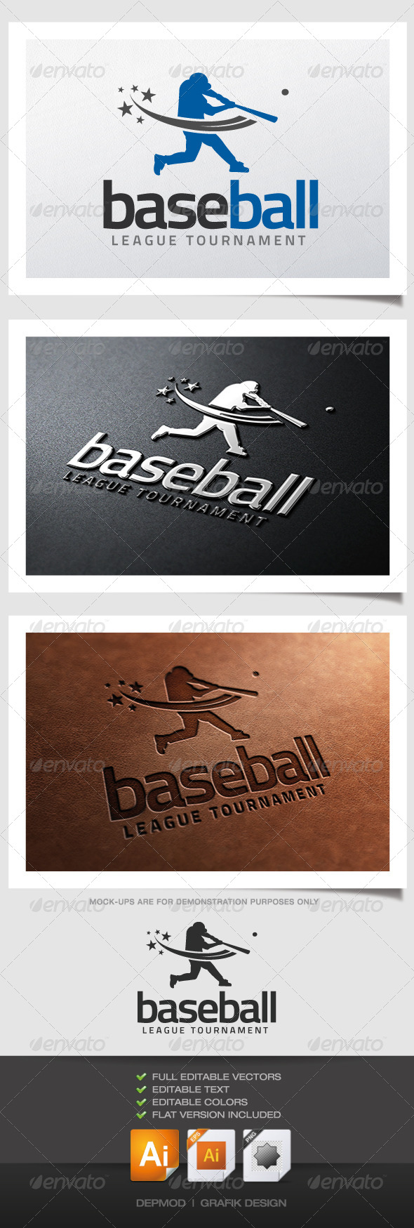 Baseball Logo - Humans Logo Templates