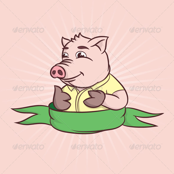GraphicRiver Thumbs Cartoon Pig 4620399