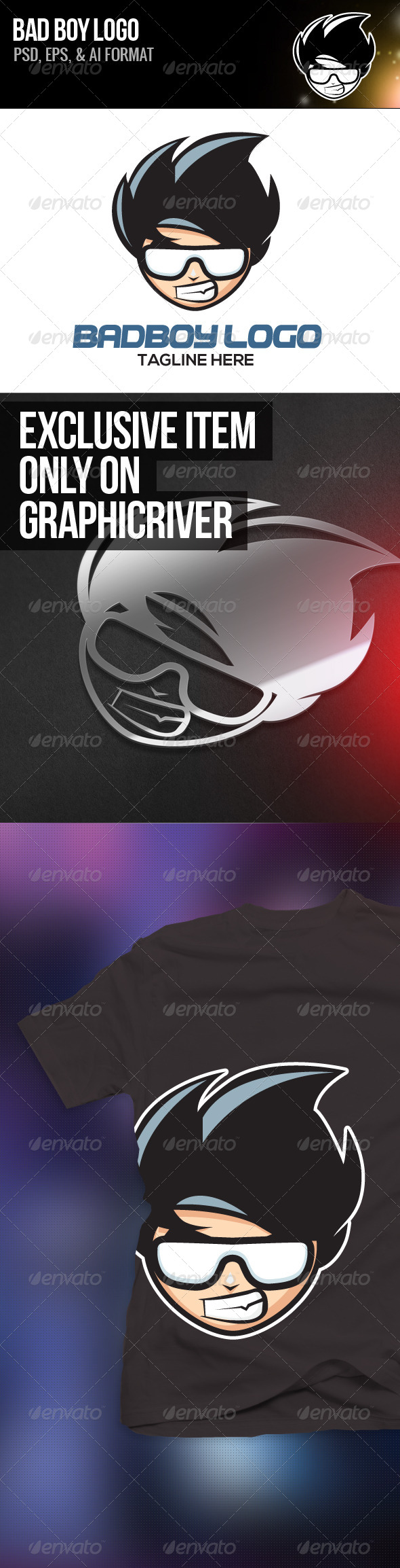 GraphicRiver Bad Boy Logo 4602854