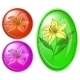 Flower Lily, Buttons - GraphicRiver Item for Sale
