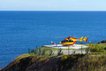 Helicopter on a landing area with sea in background - PhotoDune Item for Sale