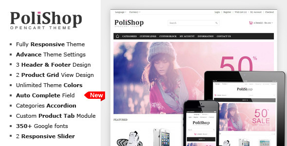 Polishop - Responsive OpenCart Theme - OpenCart eCommerce