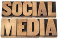 social media in wood type - PhotoDune Item for Sale