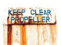 Keep clear propeller - PhotoDune Item for Sale