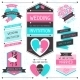 Wedding Invitation Retro Set of Design Elements - GraphicRiver Item for Sale