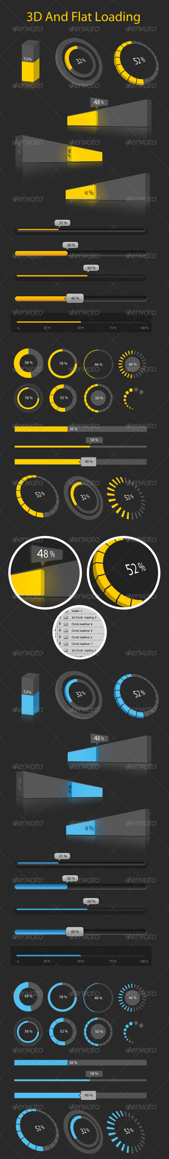 GraphicRiver Creative 3D and Flat Loading 4622001