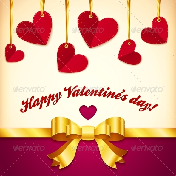 GraphicRiver Vector Valentine s Day Greeting Card with Hearts 4622031