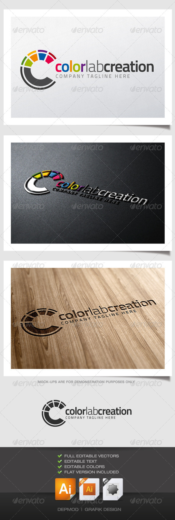Color Lab Creation Logo - Letters Logo Templates