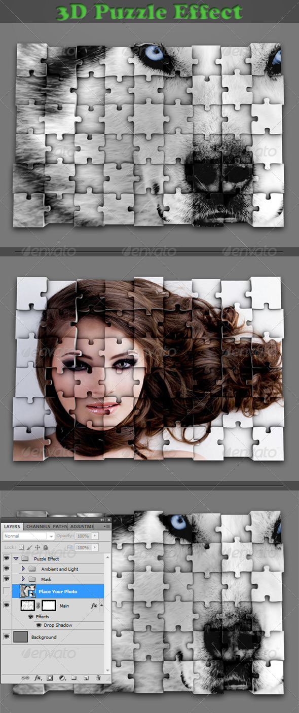 GraphicRiver Photo Puzzle Effect 4555074