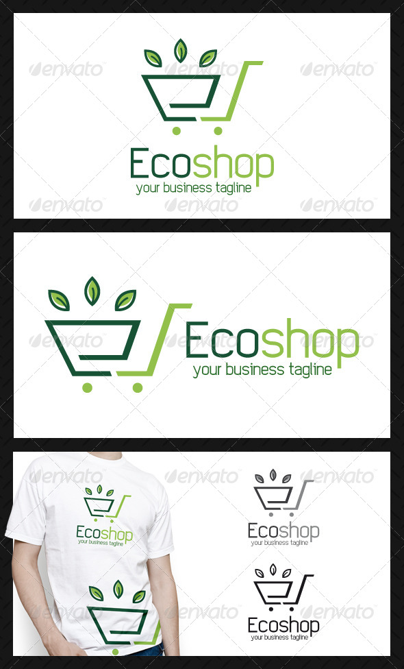 GraphicRiver Eco Shopping Logo Template 4622112