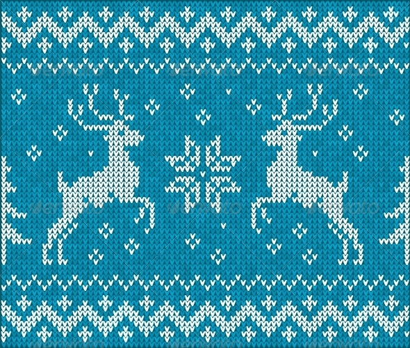 GraphicRiver Sweater with Deer 4622485