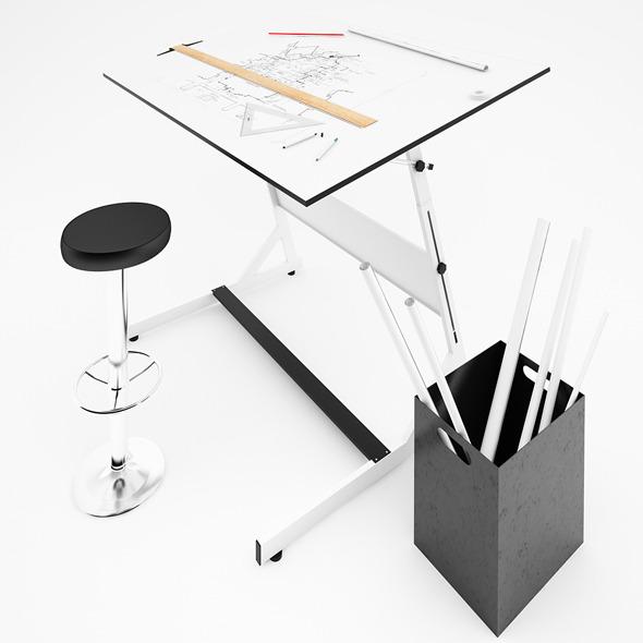 3DOcean Drafting Table 4622511