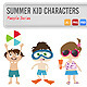 Summer Kid Characters - GraphicRiver Item for Sale