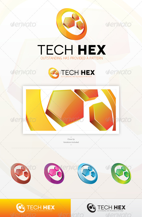 Hexa Tech Logo - Abstract Logo Templates