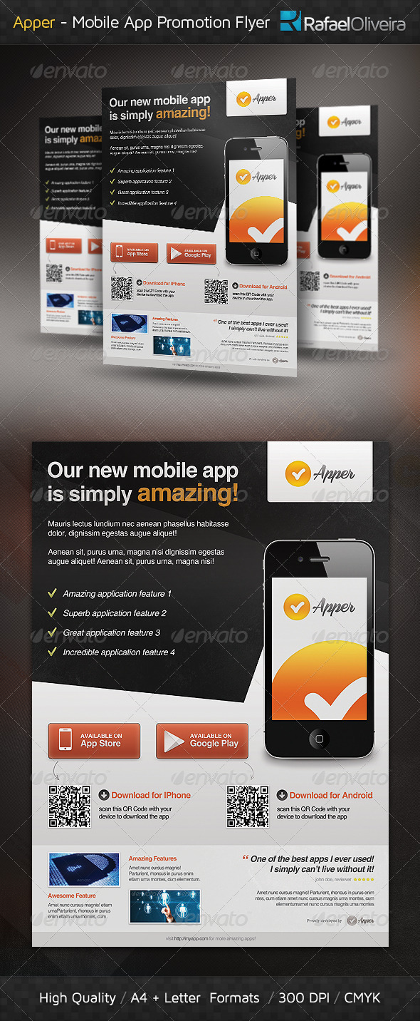 Apper - Mobile App Promotion Flyer - Commerce Flyers