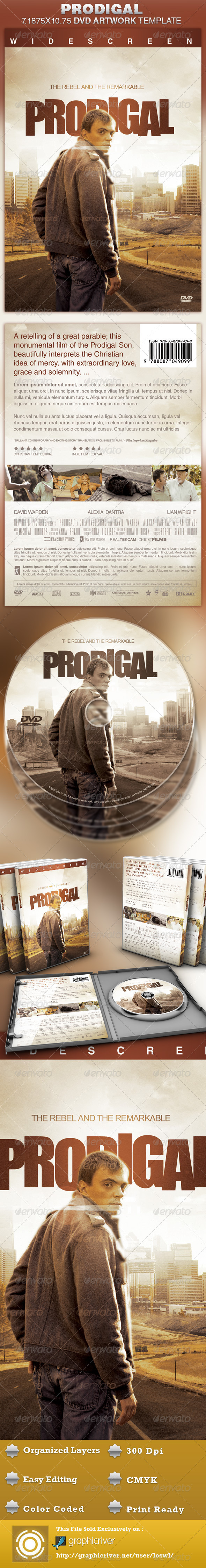 Prodigal DVD Artwork Template - CD & DVD artwork Print Templates