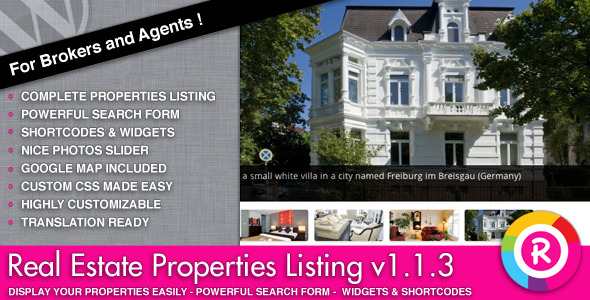 Real Estate Properties Listing - Artículo WorldWideScripts.net en venta