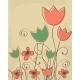 Decorative Background with Tulips Flowers - GraphicRiver Item for Sale