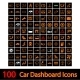 100 Car Dashboard Icons - GraphicRiver Item for Sale